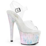 Blanco transparente 18 cm ADORE-708SPLA-2 Zapatos de striptease