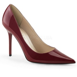 Borgona Charol 10 cm CLASSIQUE-20 Stiletto Zapatos Tacón de Aguja
