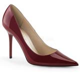 Borgona Charol 10 cm CLASSIQUE-20 zapatos puntiagudos tacón de aguja