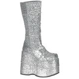 Brillo 18 cm STACK-301G Botas de Goticas Hombres Plataforma
