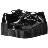 Brillo CREEPER-205 Zapatos de Creepers Mujeres Plataforma