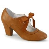 Caramel 6,5 cm WIGGLE-32 retro vintage zapatos de salón maryjane tacón ancho