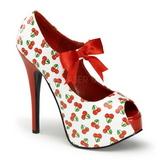 Cerezos Blanco 14,5 cm TEEZE-25-3 Zapatos de tacón altos mujer