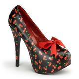 Cerezos Negro 14,5 cm TEEZE-12-6 Zapatos de tacón altos mujer