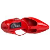Charol 10 cm VANITY-415 zapatos de salón t correa rojos