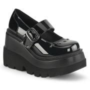 Charol 11,5 cm SHAKER-23 demonia zapatos alternativo plataforma negro