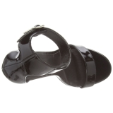 Charol 13 cm Pleaser AMUSE-10 sandalias de tacón alto
