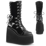 Charol 14 cm SWING-120 botas góticos con plataforma