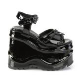 Charol 15 cm Demonia WAVE-09 lolita zapatos sandalias con cuña alta plataforma