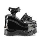Charol 15 cm Demonia WAVE-13 lolita zapatos sandalias con cuña alta plataforma