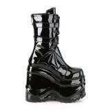 Charol 15 cm WAVE-150 demonia botas en cuña