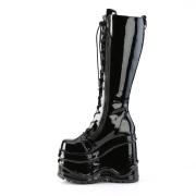 Charol 15 cm WAVE-200 demonia botas en cuña
