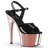 Charol 18 cm ADORE-709 Zapatos Tacón Aguja Plataforma Rosa