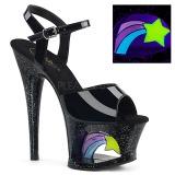 Charol 18 cm MOON-709RSS Sandalias Mujer Plataforma Neon