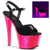 Charol 18 cm SKY-309UVLG Sandalias Mujer Plataforma Neon
