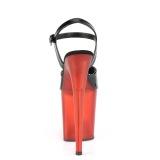 Charol 20 cm FLAMINGO-809T Zapatos pleaser con tacones altos