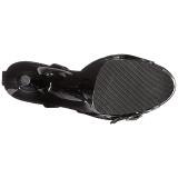 Charol 20 cm FLAMINGO-885 Zapatos Tacón Aguja Plataforma
