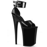 Charol 23 cm INFINITY-975 Zapatos Tacón Aguja Plataforma