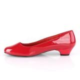 Charol 3 cm GWEN-01 zapatos de salón para hombres y drag queens rojos