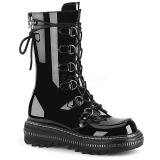 Charol 3 cm LILITH-270 botas demonia plataforma