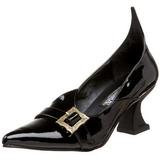 Charol 6,5 cm SALEM-06 Zapatos de Salón Bruja Planos Tacón