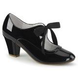 Charol Negro 6,5 cm WIGGLE-32 retro vintage zapatos de salón maryjane tacón ancho