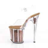Cobre 20 cm FLAMINGO-808GF brillo plataforma sandalias de tacón alto