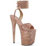 Cobre Brillo 20 cm Pleaser FLAMINGO-891LG Tacones Altos Plataforma