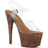 Cobre purpurina 18 cm Pleaser ADORE-708LG Zapatos con tacones pole dance