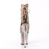 Cobre purpurina 20 cm FLAMINGO-1018G botines de pole dance
