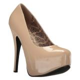 Crema Charol 14,5 cm Burlesque TEEZE-06W zapatos de salón pies anchos hombre