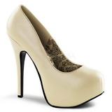 Crema Mate 14,5 cm BORDELLO TEEZE-06 Plataforma Zapato de Sal�n