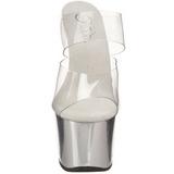 Cromo Transparente 18 cm SKY-302 Plateau Mulas Tacones Altos Mujer
