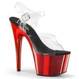Cromo rojo plataforma 18 cm Pleaser ADORE-708 zapatos para pole dance y striptease