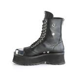 Cuero Vegano GRAVEDIGGER-10 botines con punta de acero - botines de combate