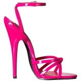 Fucsia 15 cm DOMINA-108 zapatos fetiche con tacones altos
