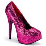 Fucsia Brillo 14,5 cm BORDELLO TEEZE-06G Plataforma Zapatos de Salón