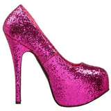 Fucsia Brillo 14,5 cm Burlesque BORDELLO TEEZE-06G Plataforma Zapatos de Salón