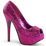 Fucsia Brillo 14,5 cm Burlesque BORDELLO TEEZE-22G Plataforma Zapatos de Salón
