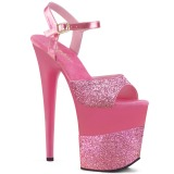 Fucsia Brillo 20 cm Pleaser FLAMINGO-809-2G Tacones Altos Plataforma