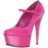 Fucsia Charol 15 cm PLEASER DELIGHT-687 Plataforma Zapatos de Salón