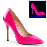 Fucsia Neon 13 cm AMUSE-20 Stiletto Zapatos Tacón de Aguja