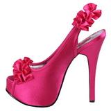 Fucsia Satinado 14,5 cm Burlesque TEEZE-56 Zapatos de Tacón Alto