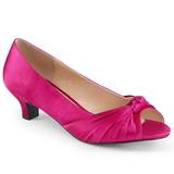 Fucsia Satinado 5 cm FAB-422 zapatos de salón tallas grandes