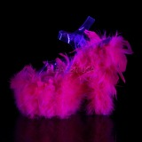 Fucsia plumas de marabu 18 cm ADORE-708F Zapatos pole dance