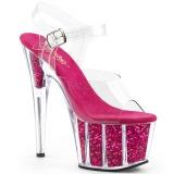 Fucsia purpurina 18 cm Pleaser ADORE-708G Zapatos con tacones pole dance