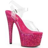 Fucsia purpurina 18 cm Pleaser ADORE-708LG Zapatos con tacones pole dance