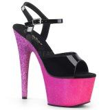 Fucsia purpurina 18 cm Pleaser ADORE-709OMB Zapatos con tacones pole dance