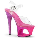 Fucsia purpurina 18 cm Pleaser MOON-708OMBRE Zapatos con tacones pole dance