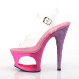 Fucsia purpurina 18 cm Pleaser MOON-708OMBRE Zapatos con tacones pole dance